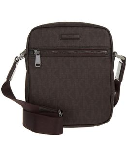 Jet Set Mens Crossbody Bag Brown