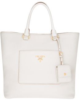 Shopping Bag Vitello Daino Talco