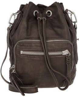 Shibata Slouchy Leather Bag Greyish