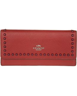 Soft Leather Wallet Red Currant
