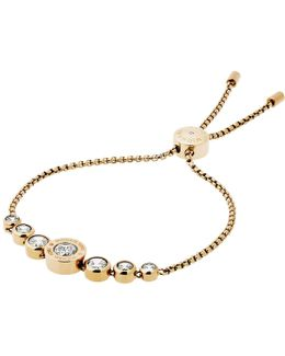 Logo Crystal Adjustable Bracelet