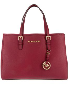 Jet Set Travel Md Ew Tote Leather Cherry