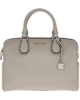 Mercer Md Leather Duffle Bag Cement