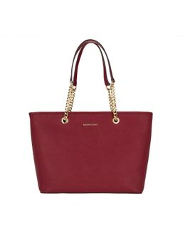 Jet Set Travel Chain Tz Multifunction Tote Cherry