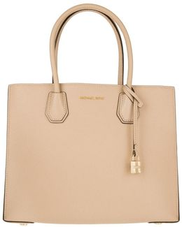 Mercer Lg Convertible Tote Leather Oyster
