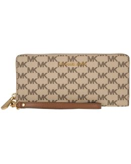 Jet Set Travel Travel Continental Wallet Natural/luggage