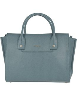 Linda M Leather Carryall Bag Dolomia
