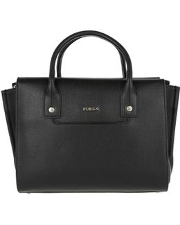 Linda M Leather Carryall Bag Onyx