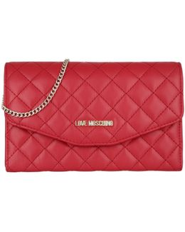 Quilted Clutch Red