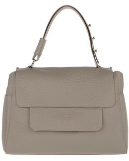 Capriccio M Top Handle Satchel Sabbia