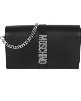 Logo Chain Wallet Black