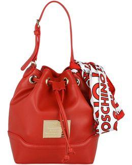 Calf Pu Bucket Bag Rosso