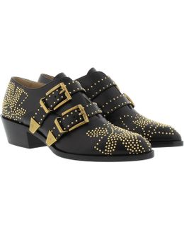 Susanna Booties Low Nappa Black & Gold