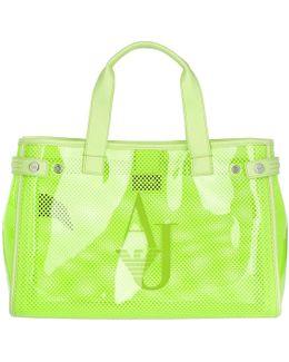 Plastic Mesh Shopping Bag Lime