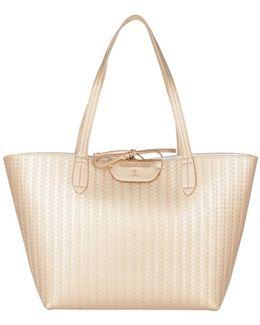 Reversible Shopping Bag Shiny Gold/white