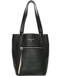 Leather Bucket Bag Black/shiny Gold