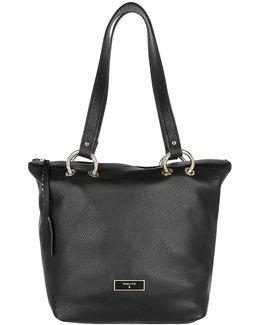 Leather Handbag Black/shiny Gold