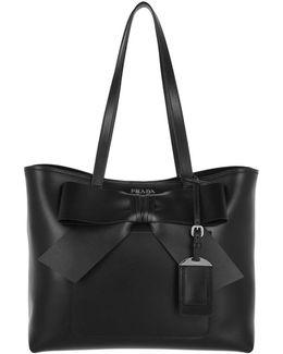 City Shopping Bag Bow Calf Nero