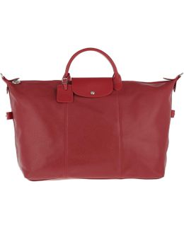 Le Pliage Leather Travel Bag Rouge