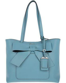 Shopping Bag City Calf Bow Astrale/nero