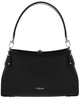 Miranda Md Top Lock Shoulder Bag Black