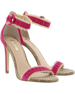 Petra Sandal Leather Rose