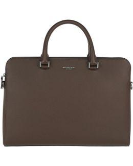 Harrison Slim Briefcase Mocha