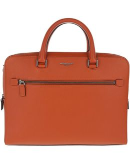 Harrison Medium Briefcase Orange