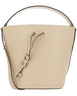 Vittoria Small Bucket Bag Drawstring Acero