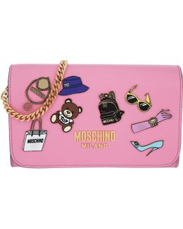 Logo Patches Wallet Pink