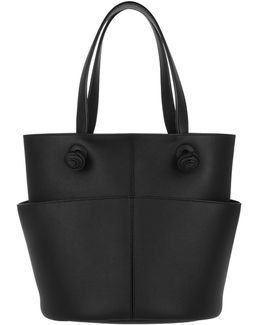 Knot Leather Tote Black