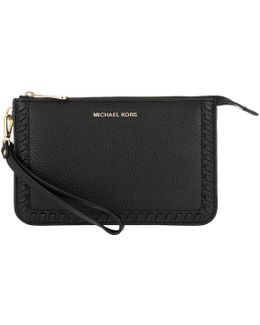 Lauryn Medium Wristlet Leather Black