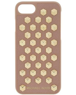 Iphone 7 Cube Case Leather Fawn
