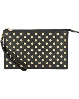 Daniela Faceted Stud Large Wristlet