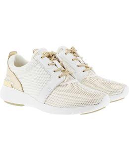 Amanda Trainer Net Mesh Sneaker Optic White/pale Gold