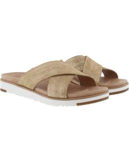 Kari Metallic Sandals Gold