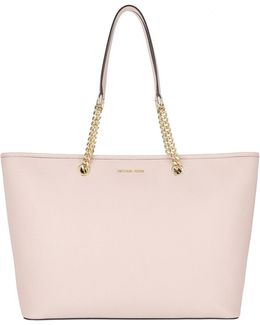 Jet Set Travel Chain Md Tz Multifunction Tote Soft Pink