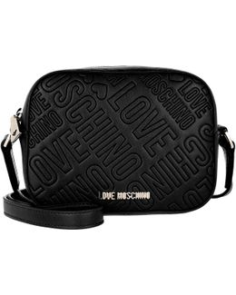 Embossed Crossbody Bag Nero