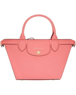 Le Pliage Heritage Leather Tote S Corail