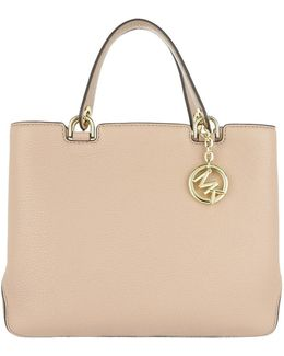 Anabelle Medium Tz Leather Tote Oyster
