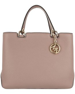 Anabelle Medium Tz Leather Tote Fawn