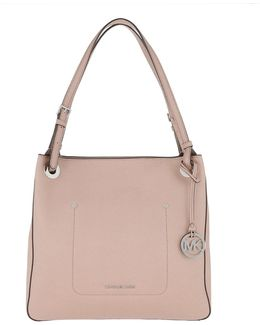 Walsh Medium Leather Shoulder Tote Fawn