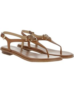 Lee Thong Leather Sandal Acorn