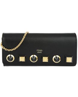 Chain Continental Wallet Gold Edition Nero