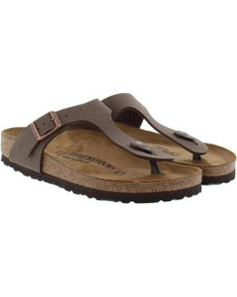 Gizeh Bs Nubuk Regular Fit Sandal Mocca