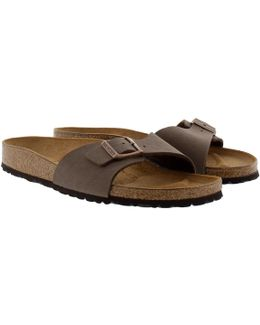 Madrid Bs Nubuk Narrow Fit Sandal Mocca