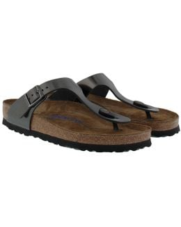 Gizeh Bs Regular Fit Sandal Metallic Anthracite