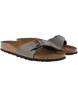 Madrid Bs Narrow Fit Sandal Metallic Anthracite