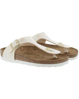 Gizeh Bs Regular Fit Sandal Shiny Snake Cream