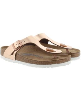 Gizeh Bs Narrow Fit Sandal Metallic Copper